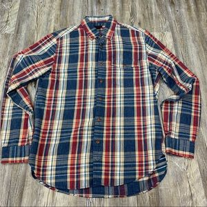J.Crew Men's Blue Red Plaid Shirt Size Small
